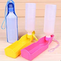 PSK Foldable Pet Dog Cat Travel Water Drinking Feeder Bottle Bowl (300 ml)