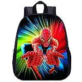 Cartable école Primaire Garçon/Fille 3-10 Ans Modèle Spiderman Nylon Imperméable Sac à Dos,Spiderman(F)-35 * 27.5 * 10.5cm