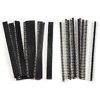 Aussel 20 Stück 2.54mm Breakaway Platine 40Pin Stecker und Buchsenleiste für Arduino Shield (PIN-2 20PCS)