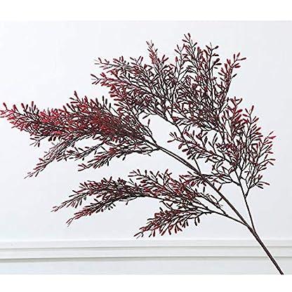 RUIZHISHU-Plantas Artificiales,Plantas Falsas,Acacia,Arreglos Florales,Adecuados para Bodas,Reuniones de Hotel de Oficina Familiar,Sin Maceta,110 cm / 43.3In,Darkred,5pcs