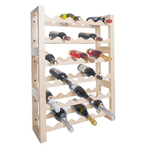 Casier à vin porte-bouteilles en bois porte bouteilles pour réfrigérateur 36 places naturel