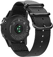 Fintie, armband voor Garmin Fenix 3, Fenix 3 HR, Fenix 5X, Fenix 5X Plus, Fenix 6X, nylon, ademende horlogeband, sportarmban