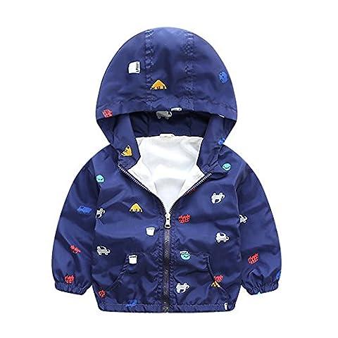 Brightup Petit garçon enfants Printemps Automne Hiver Veste à capuche Jackets