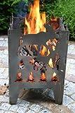 Feuersäule / Feuerkorb ELCH Gr. L aus Stahl - von SvenskaV