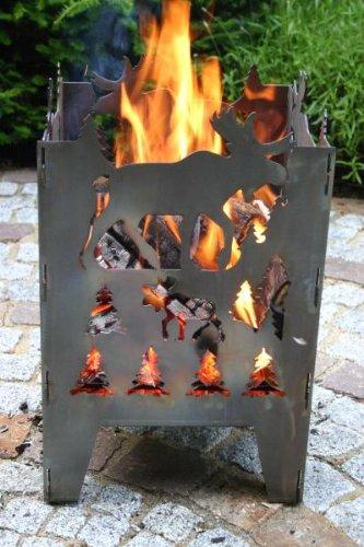 SvenskaV Feuerkorb Motiv Elch