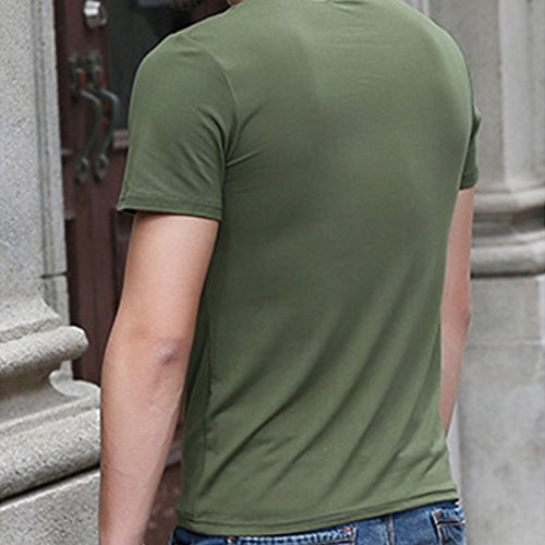 Honghu Herren Crew Neck T-shirt Grün