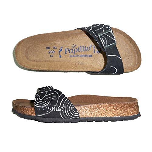 PAPILLIO BIRKENSTOCK MADRID CIABATTE DONNA sandali zoccoli NARROW (39, NERO)