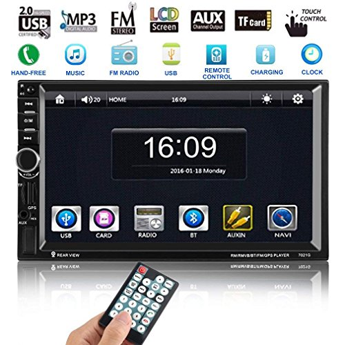 Autoradio Navigation GPS avec écran tactile HD Autoradio Navigation icoco 7'MP5joueur avec soutien et carte Map 8Go MP3/MP4/MP5/GPS/Mic/Bluetooth/USB/TF/AUX