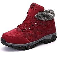 ZOEASHLEY Damen Winterschuhe Boots Warm Gefüttert Winter Stiefel Trekking Outdoor Schuhe mit Klettverschluss Gr.35-42