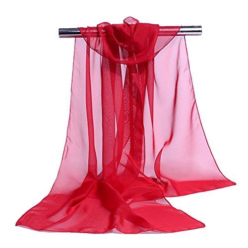 JUNGEN Pañuelo Seda Elegante Suave Larga Bufanda