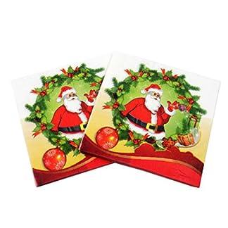 20x da. WA doble capa papel servilletas de cóctel fiesta de compromiso de Navidad muñeco de nieve tejidos servilletas de papel para vajilla