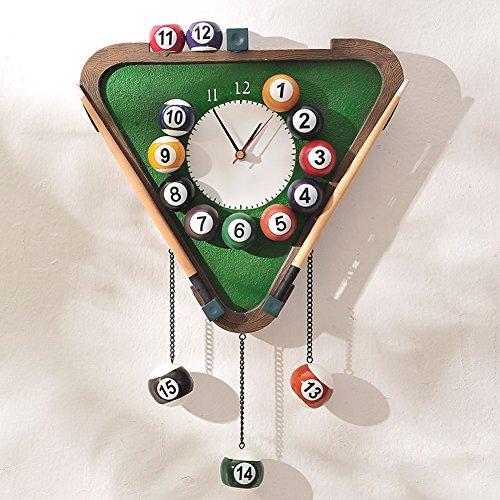 BENHAI Individualité Créativité Billard Design Horloge Horloge Murale Art Moderne Horloge Billard
