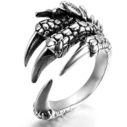 stainless-steel-ring-for-men-claw-ring-gothic-silver-band-22mm-size-r-1-2-epinki