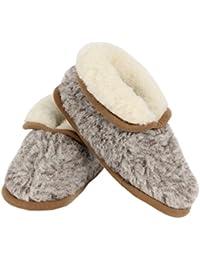 Cotone Pantofole con suola antiscivolo grigio melange in 100% lana Merino  in taglia 40 – 2f1b4d075ad