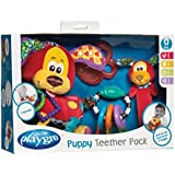 Playgro 0183171 - Set de mordedores, diseño Puppy