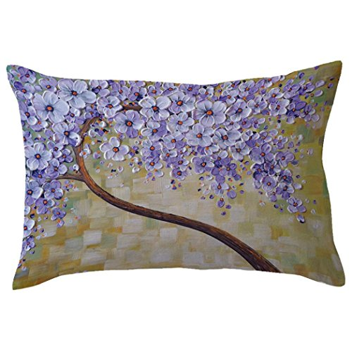 Indexp Rectangle Tree Pattern Printing Throw Cushion Cover Sofa Home Decoration Pillow case (Style M)