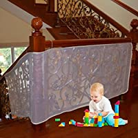Stairs Protector Removable And Mesh Children Baby For Guard 3 Meters Thickened Safe Rail 10ft L X 3ft H Outdoor Balcony & Stairway Deck Railing Safety Net Pearl Color Banister Stair Child Pet Toy Indoor Durable Kids Fall Protection Weatherproof Adjustable Or Patios Easy To Install