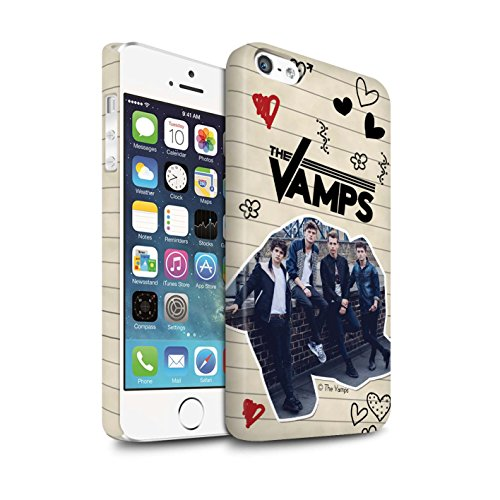 Offiziell The Vamps Hülle / Matte Snap-On Case für Apple iPhone 5/5S / Pack 5Pcs Muster / The Vamps Doodle Buch Kollektion Schwarz Stift