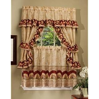 Achim Home Furnishings Sunflower Cottage Set, 36-Inch, Antique