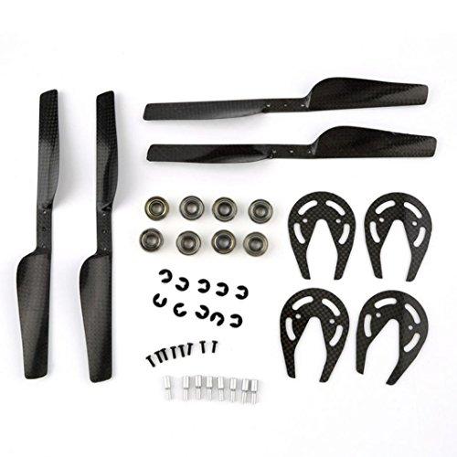 WYXlink Carbon Fiber Propeller & Gear Guard & Bearing for Parrot AR Drone 1.0 & 2.0 (A)
