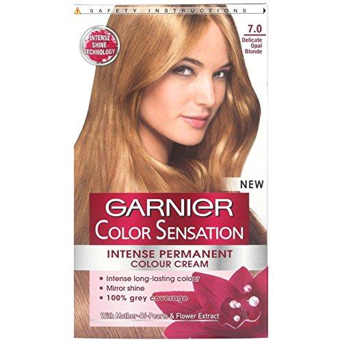 3x Garnier Color Sensation Intense Permanente Farbe Creme 7.0Zarte Opal blond