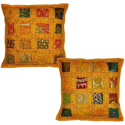 Rajasthali - 2 copricuscini indiani, stile vintage,