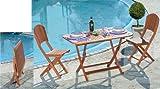 HOMEGARDEN Tavolo in Legno Pieghevole da arredo Giardino 120x70x74