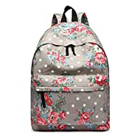 Miss Lulu School Backpacks Canvas Bookbag Cute Printed Leisure Backpack for Teenage Girls