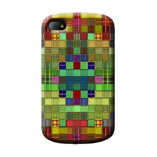 Garmor Abstract Design Plastic Backcover for BlackBerry Q10- (Txt 3)