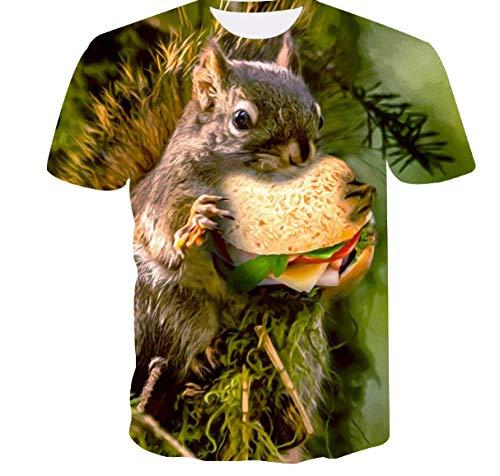 Sommertop 3D Bier Wort männliche und weibliche lustige T-Shirt Rundhals Kurzarm Shirt Trend Mode