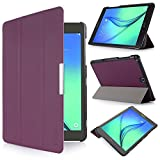 iHarbort® Samsung Galaxy Tab A 9.7 Hülle Case Tasche mit Standfunktion Auto Wake up Sleep PU Leder hüllen für Samsung Galaxy Tab A 9.7 (SM-P550 P555 T550 T555) Smart Cover mit Auto Sleep Wake up / Standfunktion (Galaxy Tab A 9.7, lila)