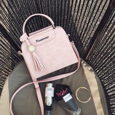 CengBao Ms. pacchetti nuova donna borsa pacchetto versione coreana è semplice ed elegante per singolo borse a tracolla messenger la bordatura di flussi di pacchetti, rosa Rosa