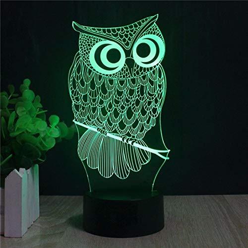 ampe / 7 wechselnden farben touch nachtlicht/baby schlafzimmer dekoration/kinder geschenk/eule ()