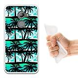 WoowCase Vodafone Smart N8 Hülle, Handyhülle Silikon für [ Vodafone Smart N8 ] Tropische Palmen Handytasche Handy Cover Case Schutzhülle Flexible TPU - Transparent