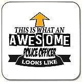 Dies ist, was ein Awesome Police Officer sieht aus wie Getränke Untersetzer ideale Geschenk