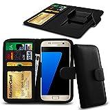 N4U Online® Posh Titan Max HD E550 PU-Leder-Clip-Mappen-Kasten-Abdeckung mit Kreditkarte, Notes & ID Slots - Schwarz