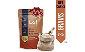 Lo! Foods - Ultra Low Carb Keto Atta | 3g Net Carb Per Roti | Lab Tested Keto Food Products for Keto Diet | Nutritious Keto Flour Low Carb - 975 g
