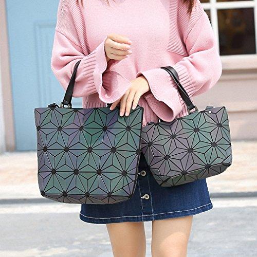 Borsa a tracolla diamante femmina top-manico borse donna luminosa sac borse donna calda grande (30cm) small (22cm)