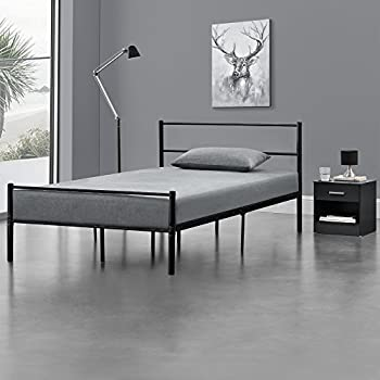 metallbett 120x200 wei mit matratze bettgestell bett jugendbett metall. Black Bedroom Furniture Sets. Home Design Ideas