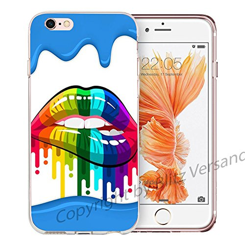 Blitz® LIPS motifs housse de protection transparent TPE caricature bande iPhone Bouche érotique M15 iPhone 8sPLUS HIPSTER bouche M12