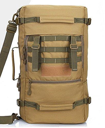 Outdoor schulter Rucksack camouflage Bergsteigen Tasche großer Kapazität Rucksack schulter Rucksack 56 * 30 * 19 cm, Army green 50 L Khaki 50 L