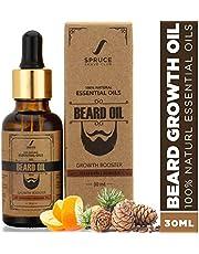 Spruce Shave Club Beard Oil For Beard Growth (30ml) - Cedarwood & Mandarin - 9 Natural Oils For Beard Growth