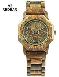 MSB REDEAR Marca/creativo todos los relojes de madera/único reloj multifunción de alta