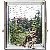 Kerbl 82654 kattenbeschermingsnet 4 x 3 m, transparant
