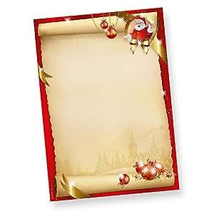 santa claus briefpapier weihnachten 50 blatt din a4 90 g. Black Bedroom Furniture Sets. Home Design Ideas