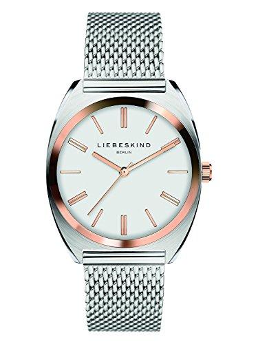Liebeskind Berlin Damen Analog Quarz Uhr mit Edelstahl Armband LT-0070-MQ