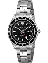 Versace Hellenyium GMT Black Dial Mens Watch V11100017