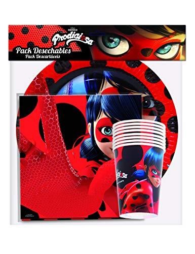 (Generique - Ladybug Party-Set Lizenzprodukte 36-teilig bunt)