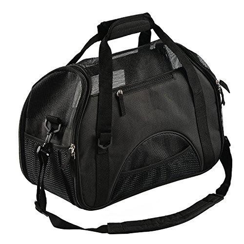 Pettom Haustiertragetasche Transporttasche für Hunde Katze Haustier Hund Katzetragbare Tasche atmungsaktive Outdoor-Reise Schultertasche