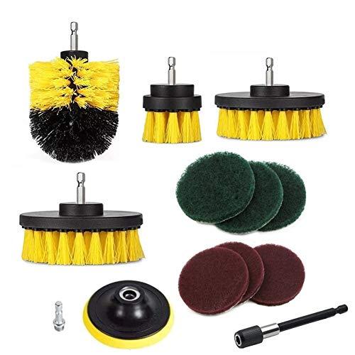 XINHUANG 12 Stücke Bohrmaschine Pinsel Peeling Pads Mörtel Bohrmaschinen Scrubber Reinigungsbürste Tub Cleaner Tools Kit - Feine Peeling-reiniger